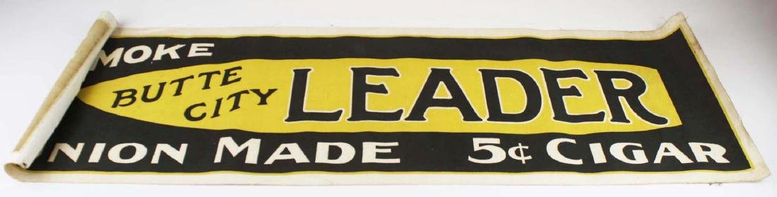 early 20th c Smoke Butte City Leader banner