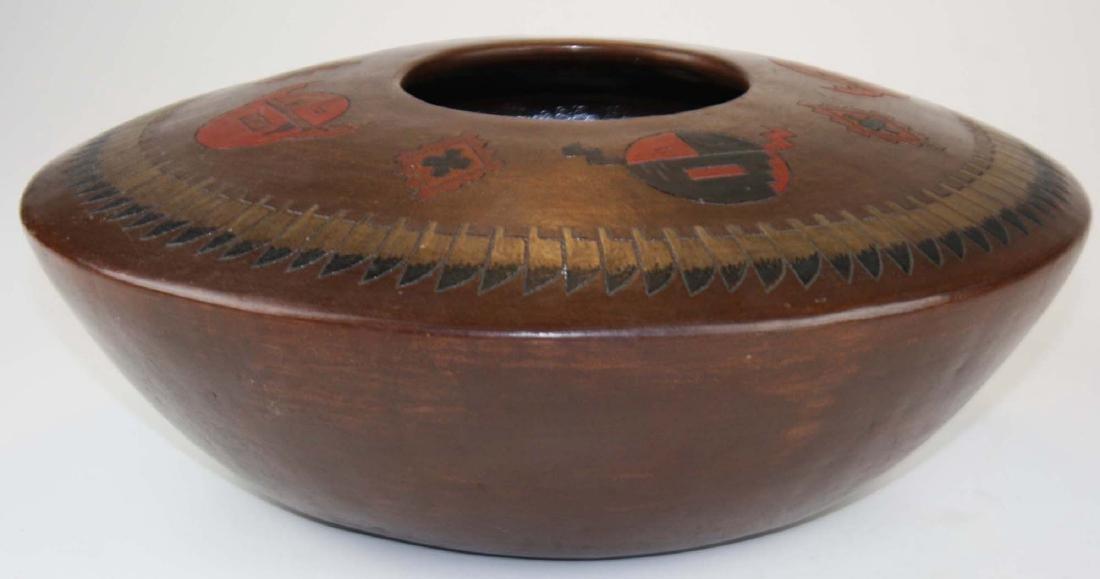 Lorraine Williams Navajo 4 color pottery jar