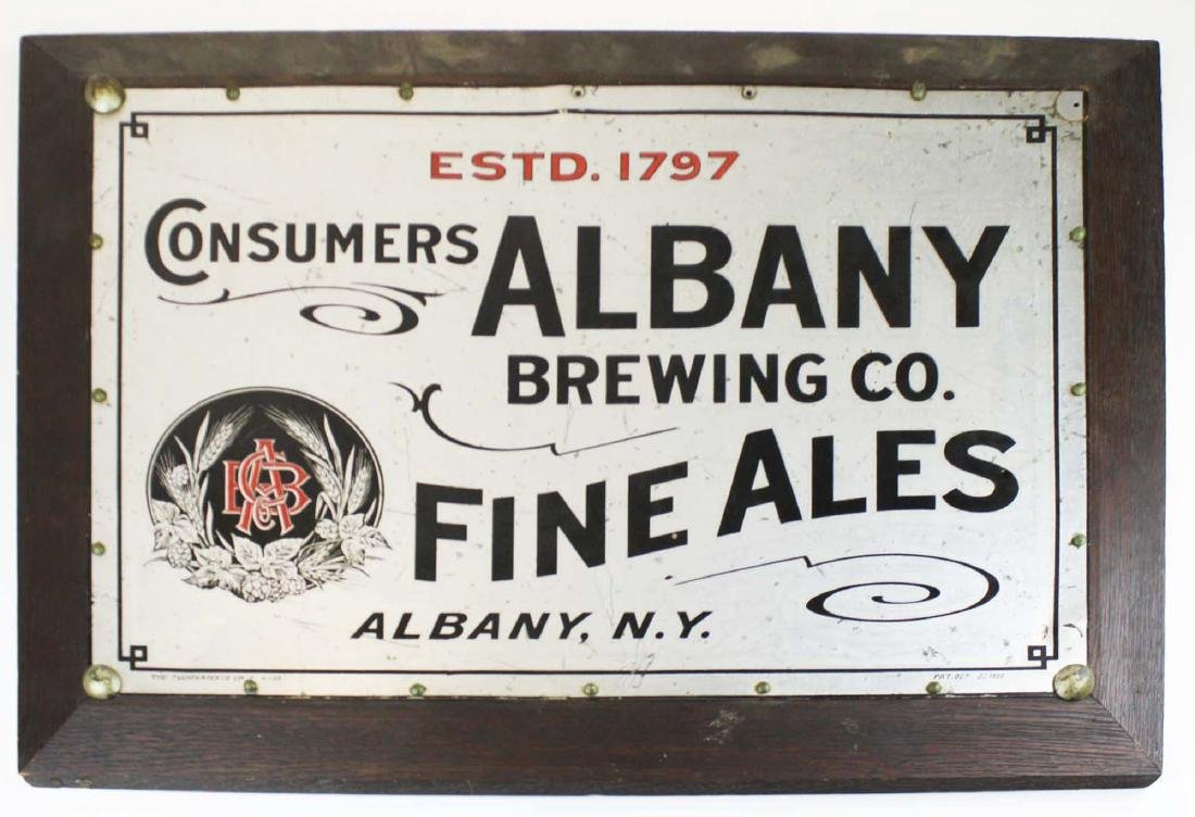 1909 Consumers Albany Brewing Company sign