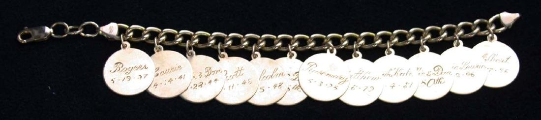 Yellow gold charm bracelet.
