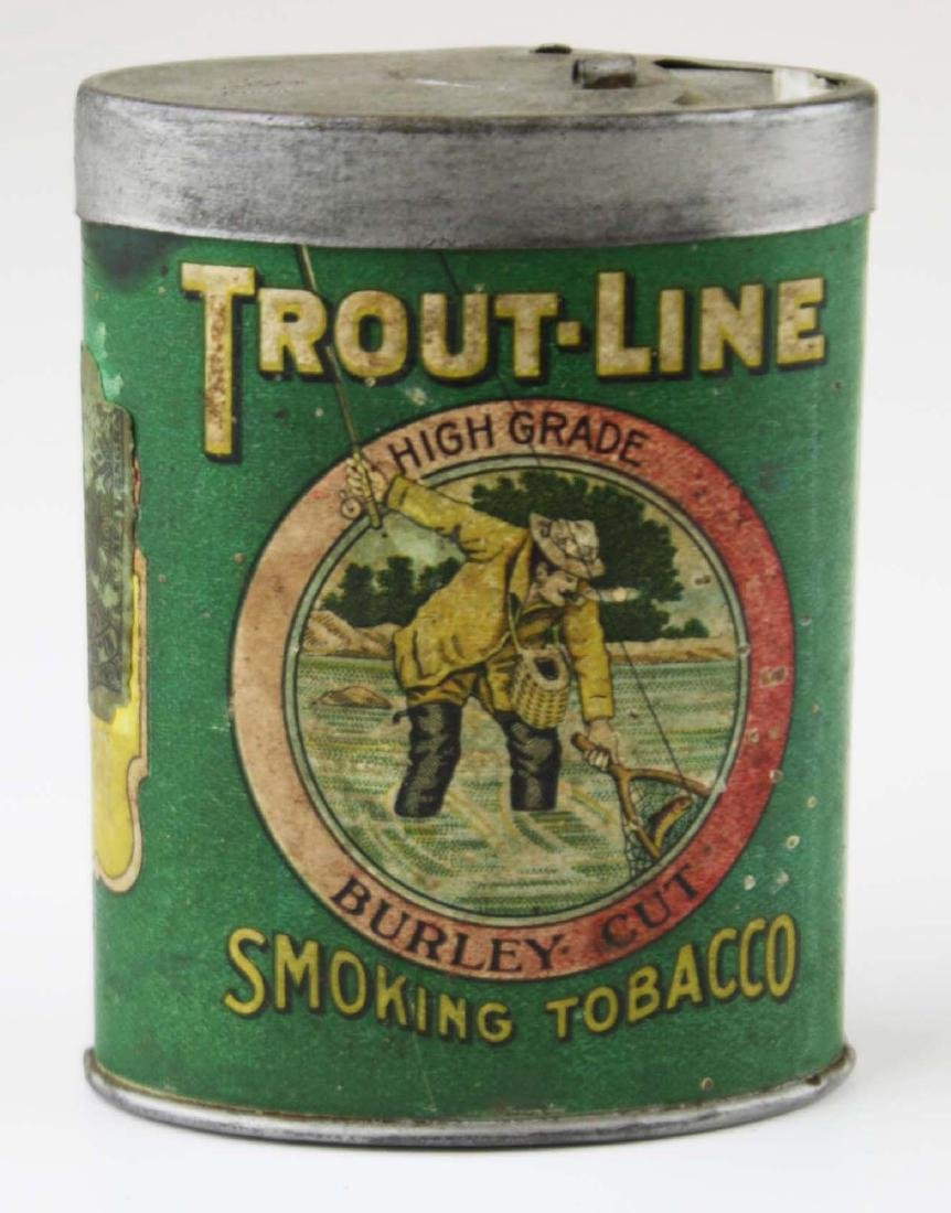 Trout Line oval pocket tobacco tin
