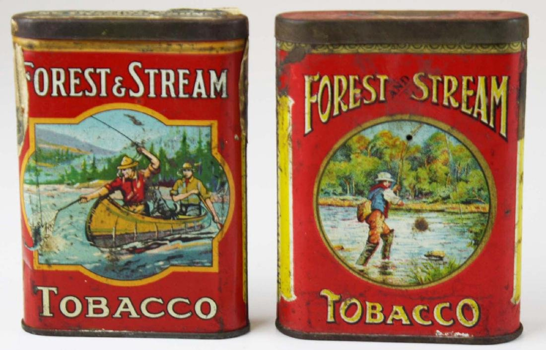 2 Forest & Stream pocket tobacco tins