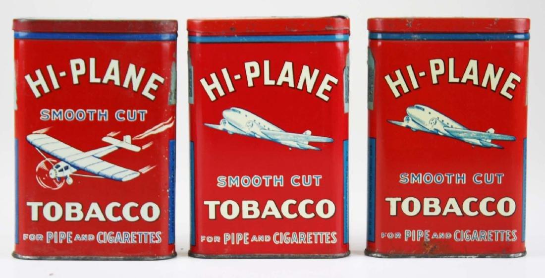 3 Hi-Plane pocket tobacco tins