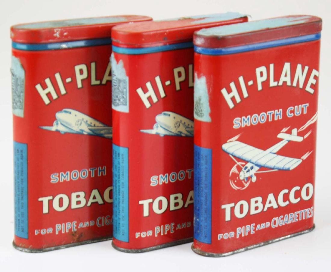 3 Hi-Plane pocket tobacco tins - 3