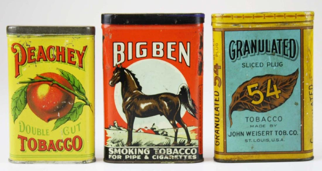 Big Ben, Peachey, 54 pocket tobacco tins