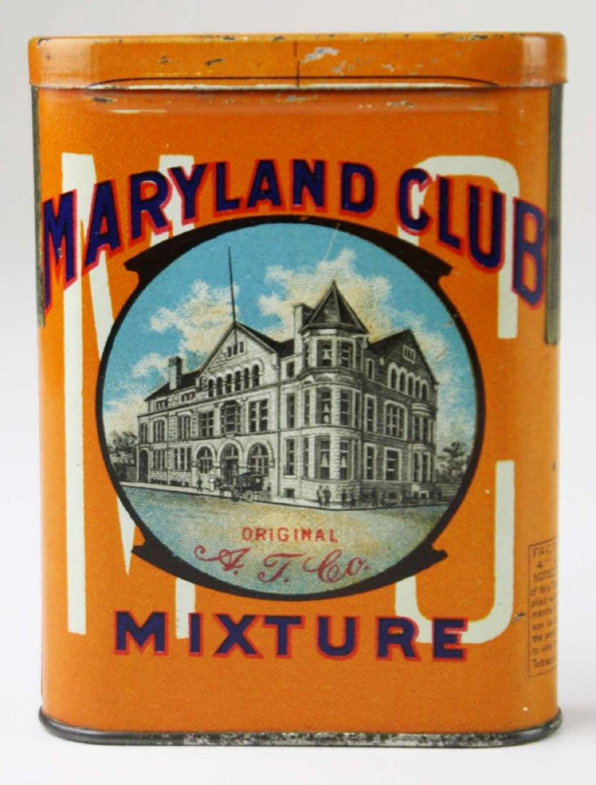 Maryland Club pocket tobacco tin