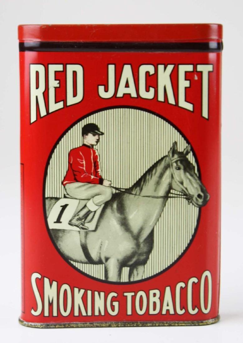 Red Jacket pocket tobacco tin