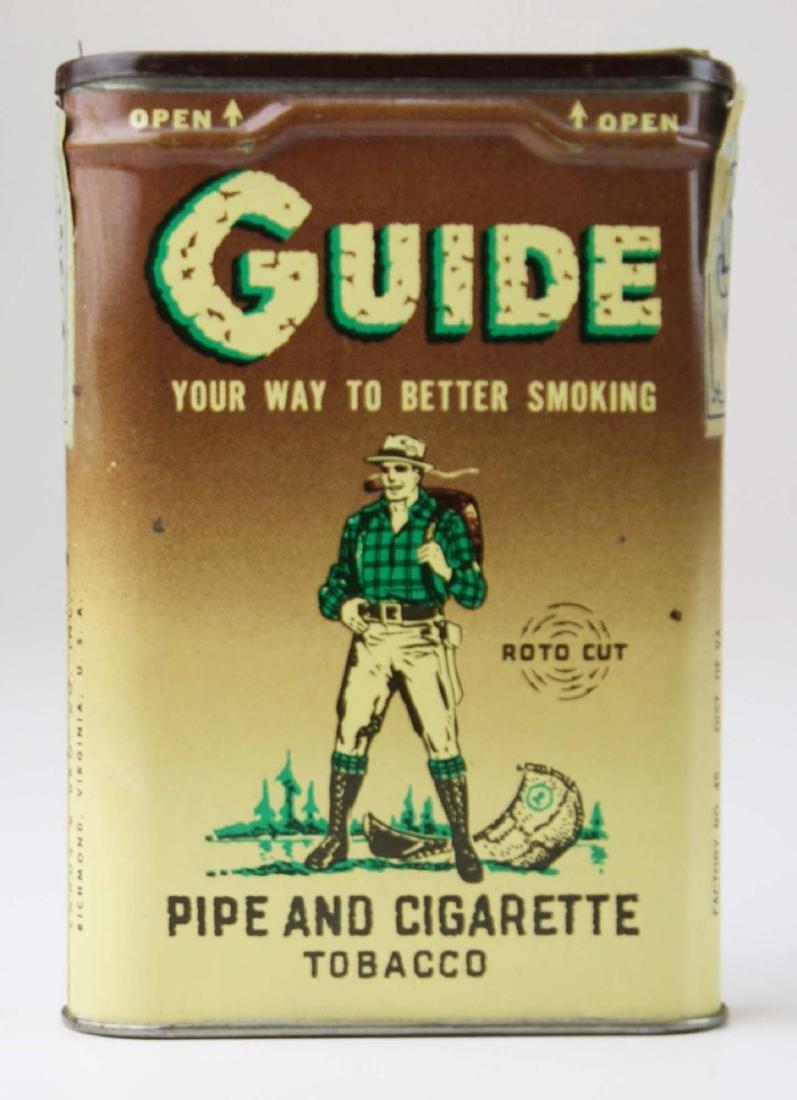 Guide pocket tobacco tin