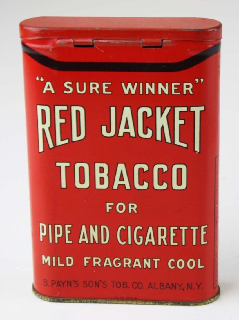 Red Jacket pocket tobacco tin - 4