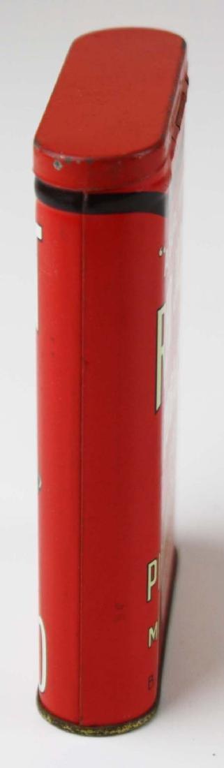 Red Jacket pocket tobacco tin - 5