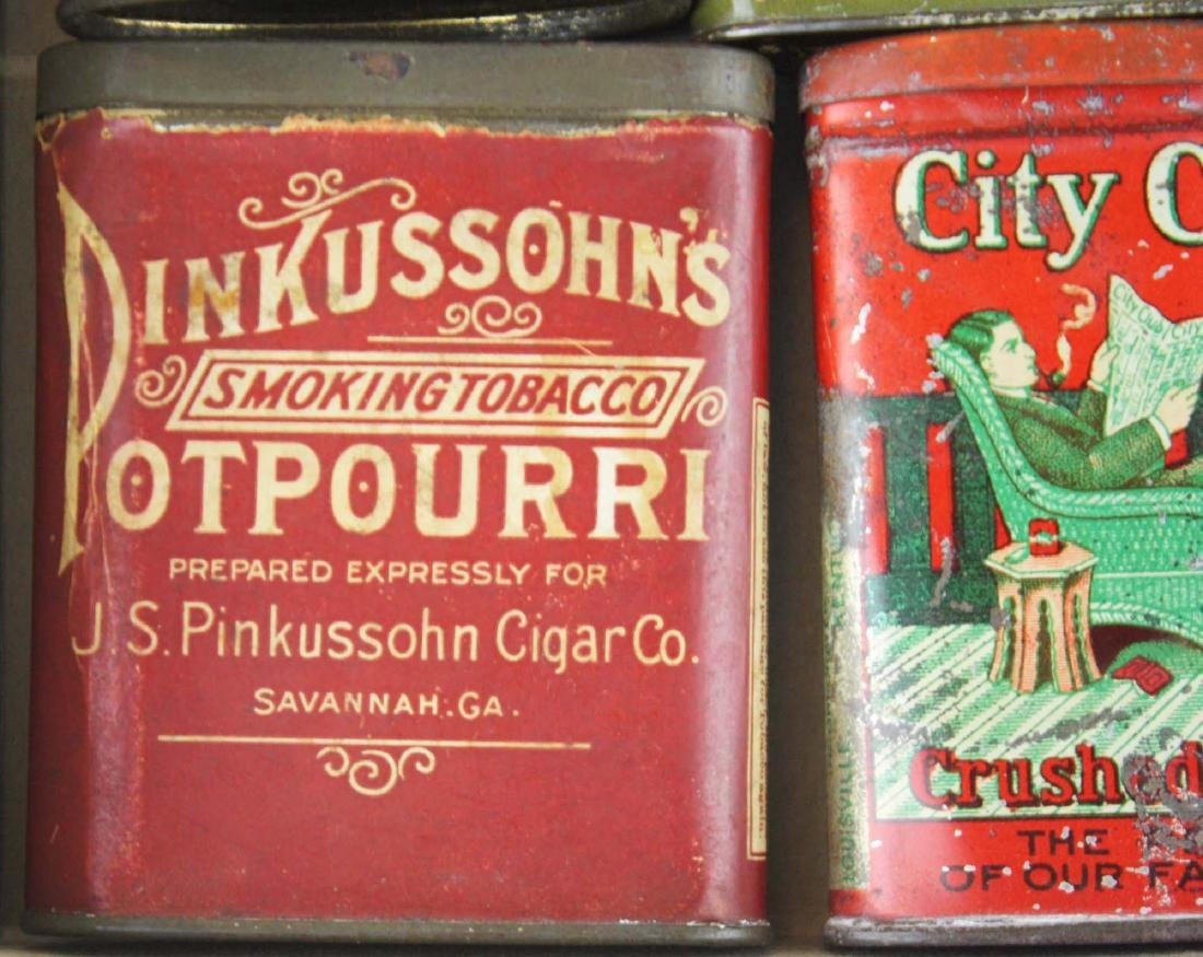 10 small pocket tobacco tins - 2