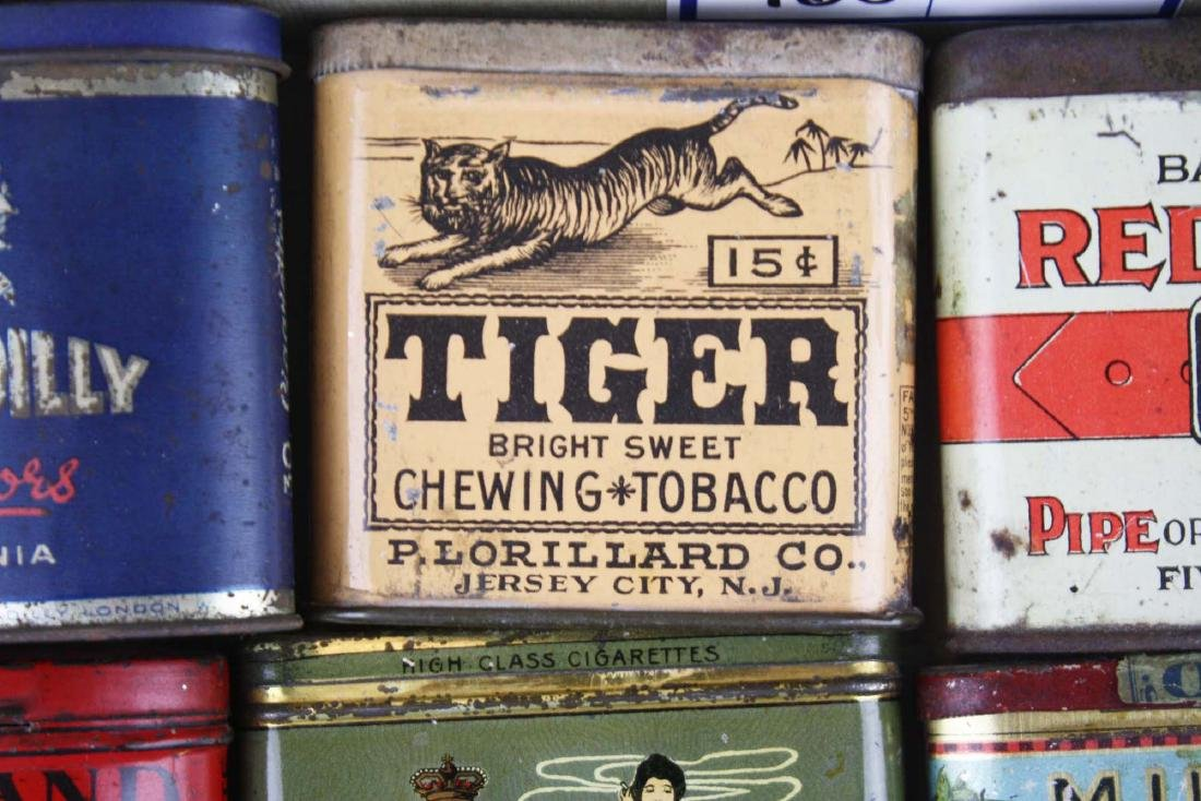 10 small pocket tobacco tins - 4