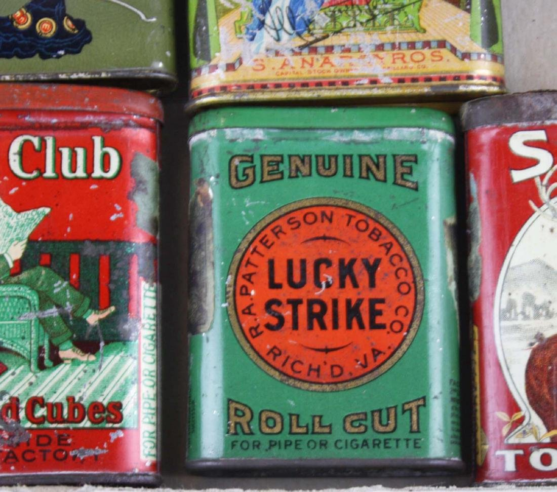 10 small pocket tobacco tins - 6
