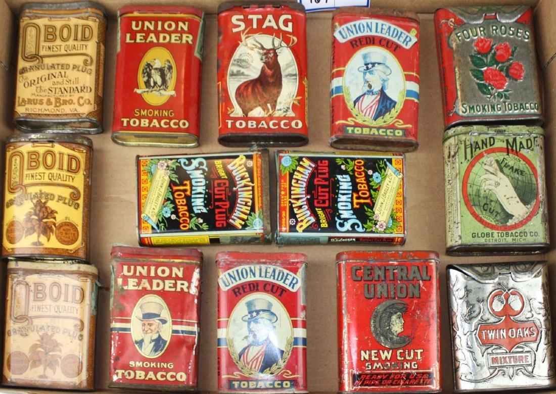 14 pocket tobacco tins