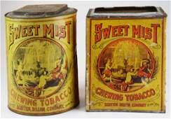 Sweet Mist store display tobacco tins
