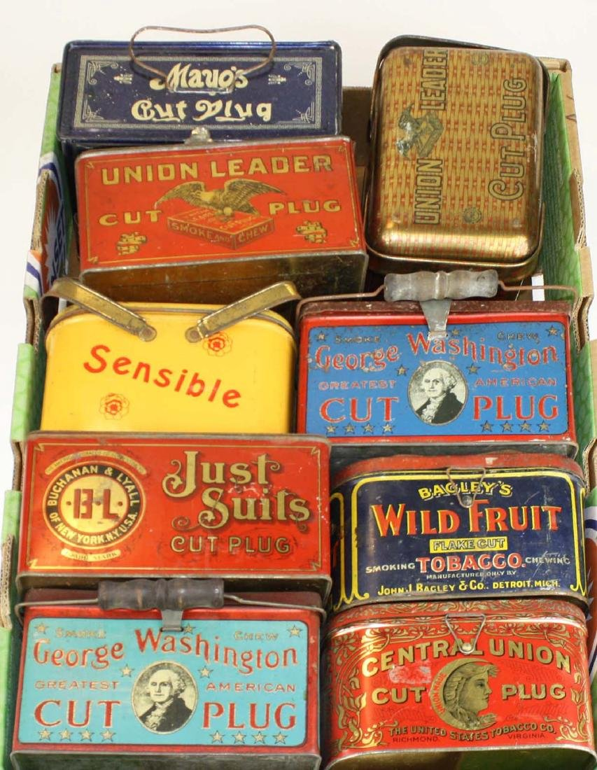 9 lunch box tobacco tins