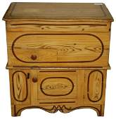 19th c grain painted commode