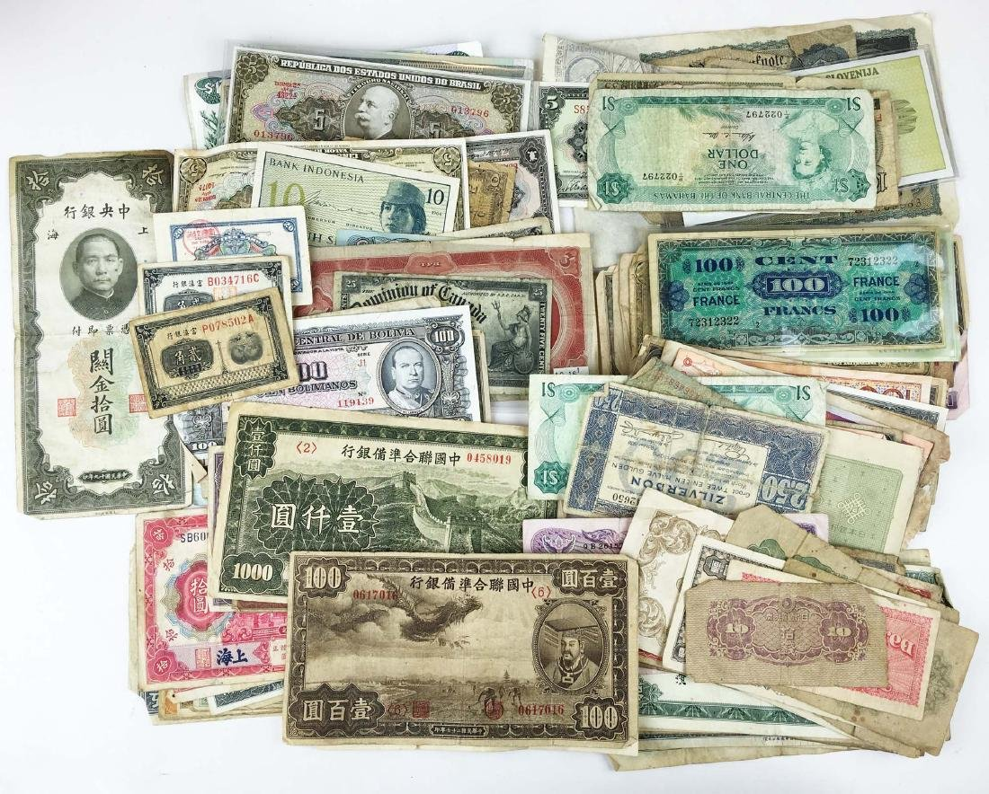 Lot of foreign currency incl Brazil and China,