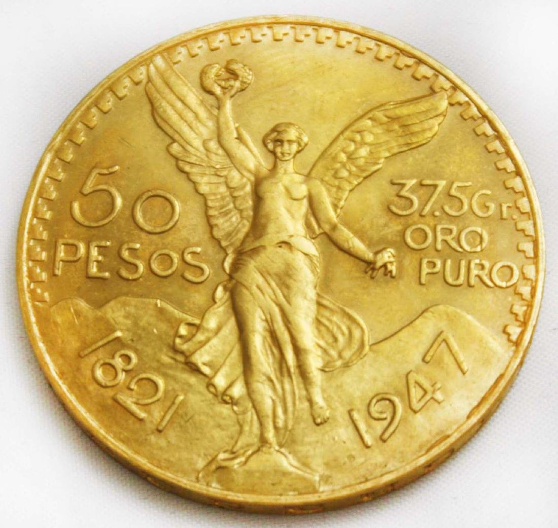 1947 50 Pesos gold coin