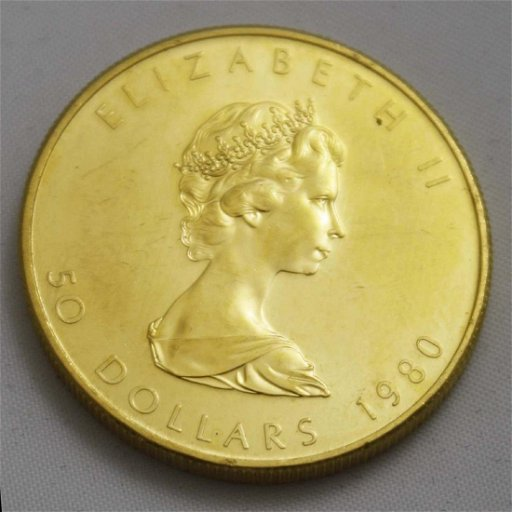 1980 Fifty dollar Canadian gold coin