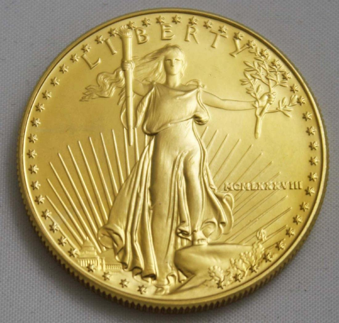 1988 $50 US St Gaudens gold coin