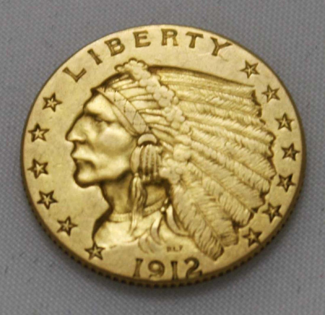 1912 $ 2 1/2 US Indian head gold coin