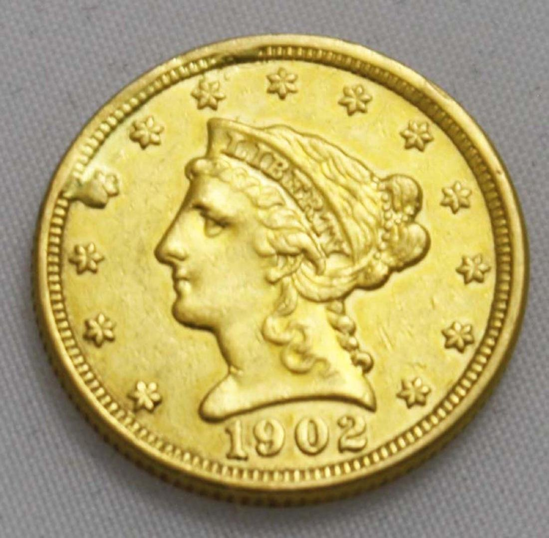 1902 $2 1/2 US Liberty head gold coin