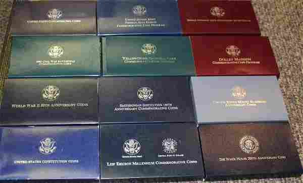 Collection of 12 anniversary US proof set