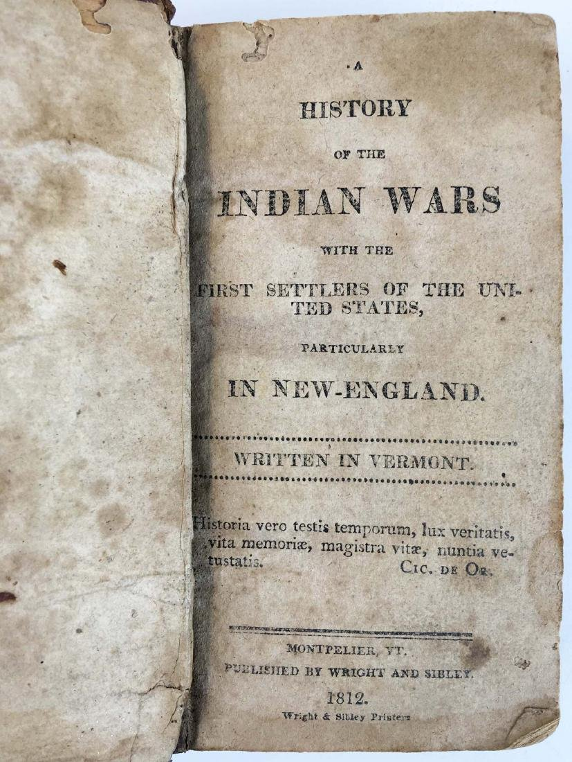 1812 History of the Indian Wars