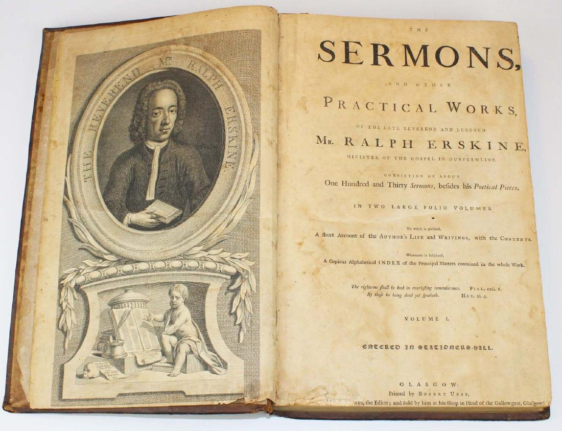 1764 Erskine Sermons & Practical Works