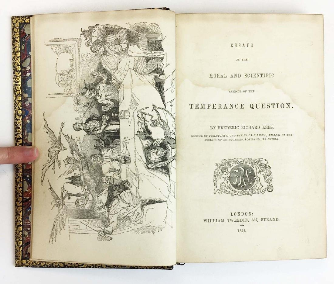 1854 Lees' Essays on Temperance