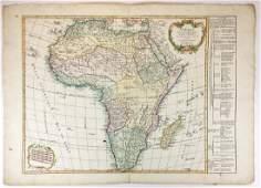 1795 map Afrique by Vaugondy
