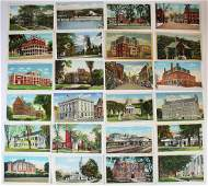 lot of printed Vermont view postcards