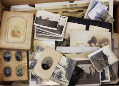 lot of early photography incl tintypes CDVs