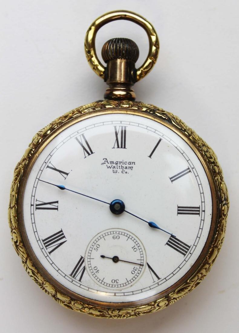 18 k yellow gold American Waltham pocket watch