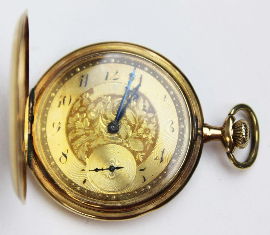 14k yellow gold Gruen pocket watch