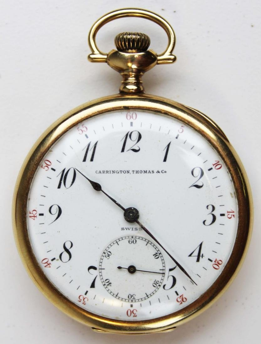 14k yellow gold Longines Co pocket watch