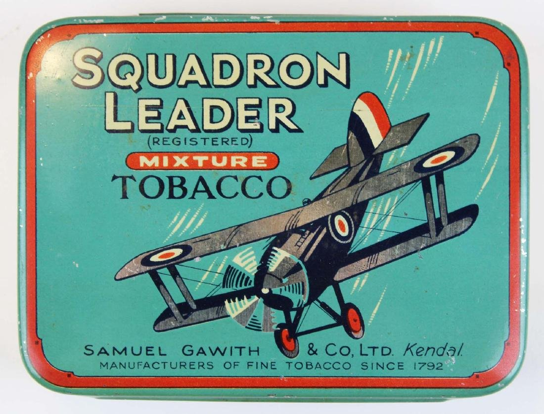 Squadron Leader round corner tobacco tin