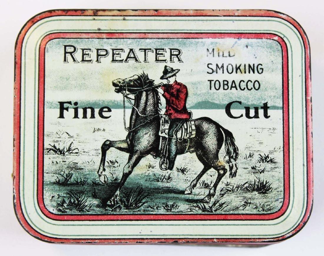 Repeater round corner tobacco tin