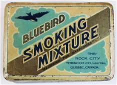 Bluebird round corner tobacco tin
