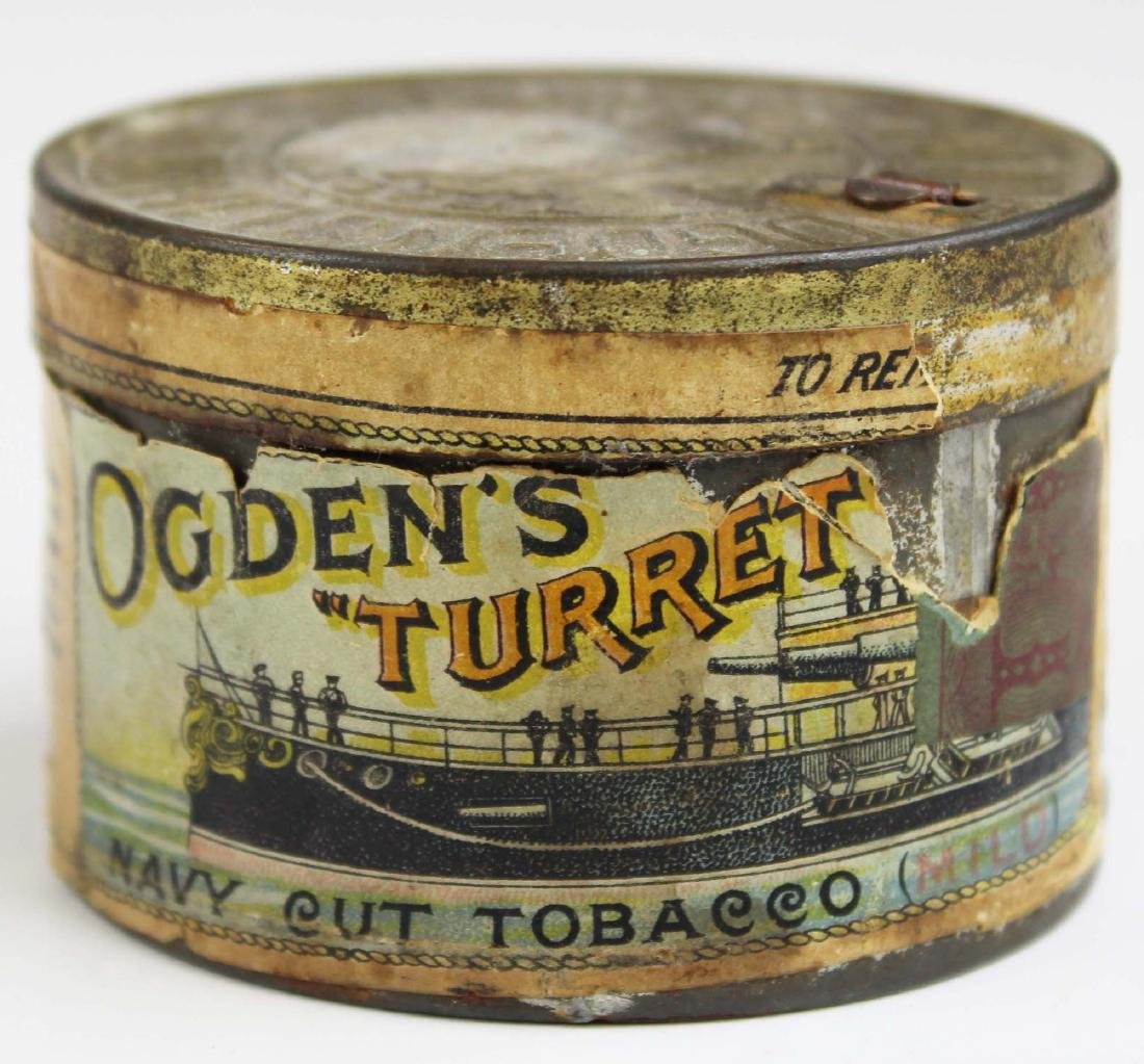 """Ogden's """"Turret"""" round tobacco tin"""