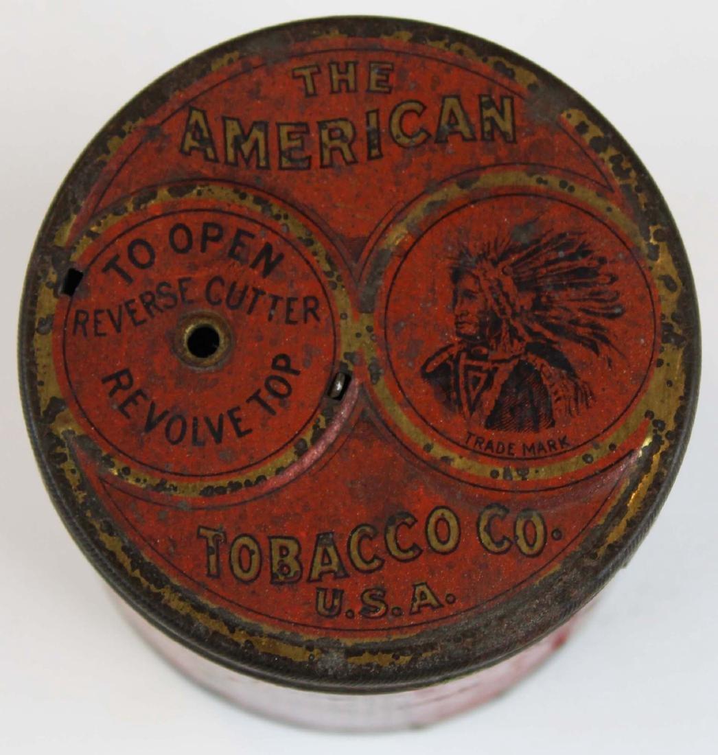 Columbia round tobacco tin