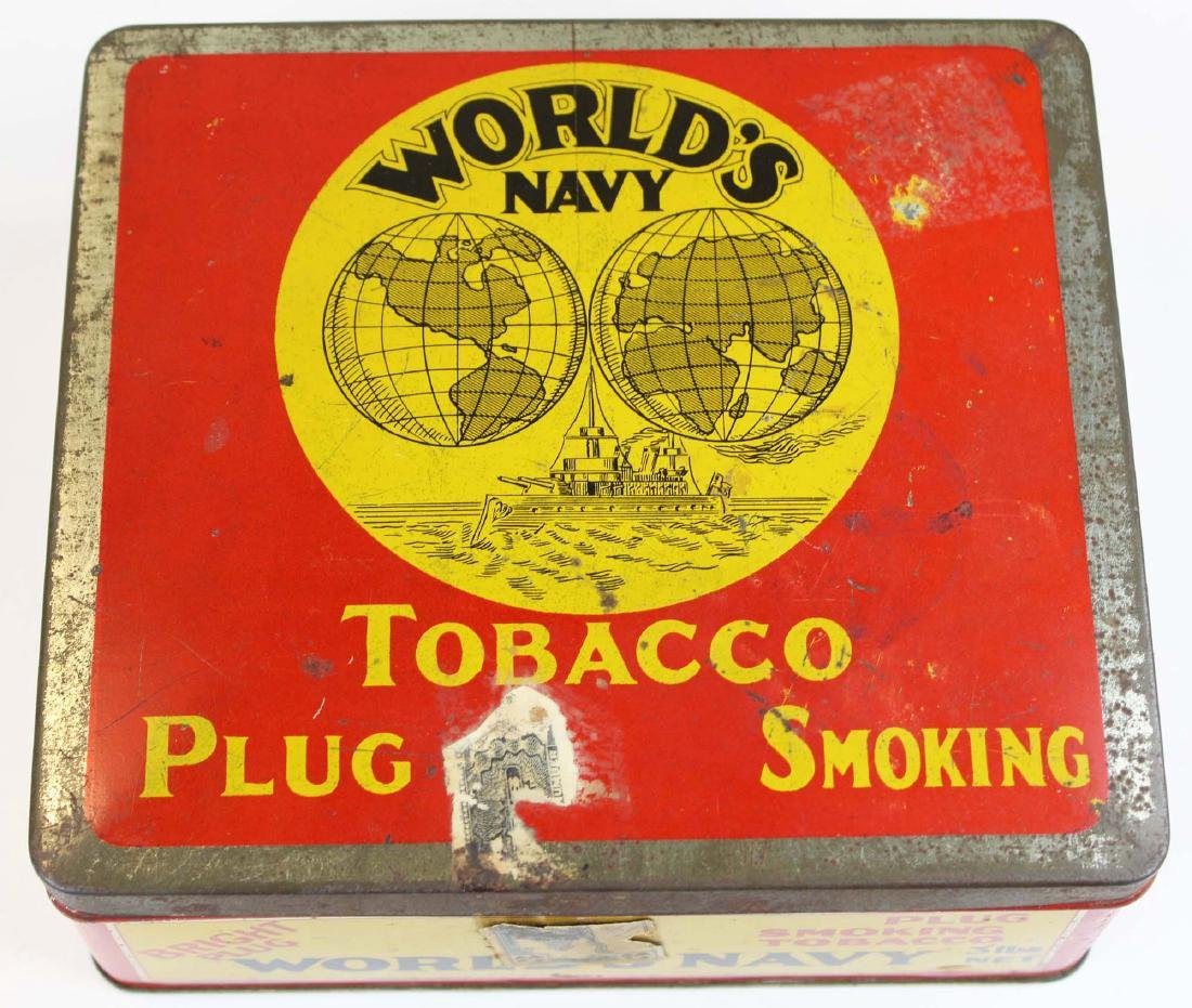 World's Navy countertop 3 lbs store tin