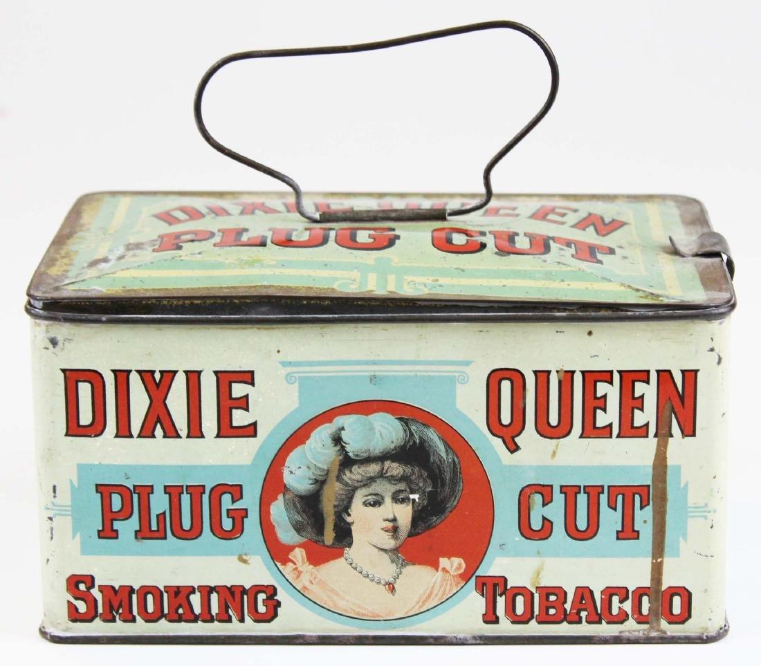 Dixie Queen lunch pail tobacco tin