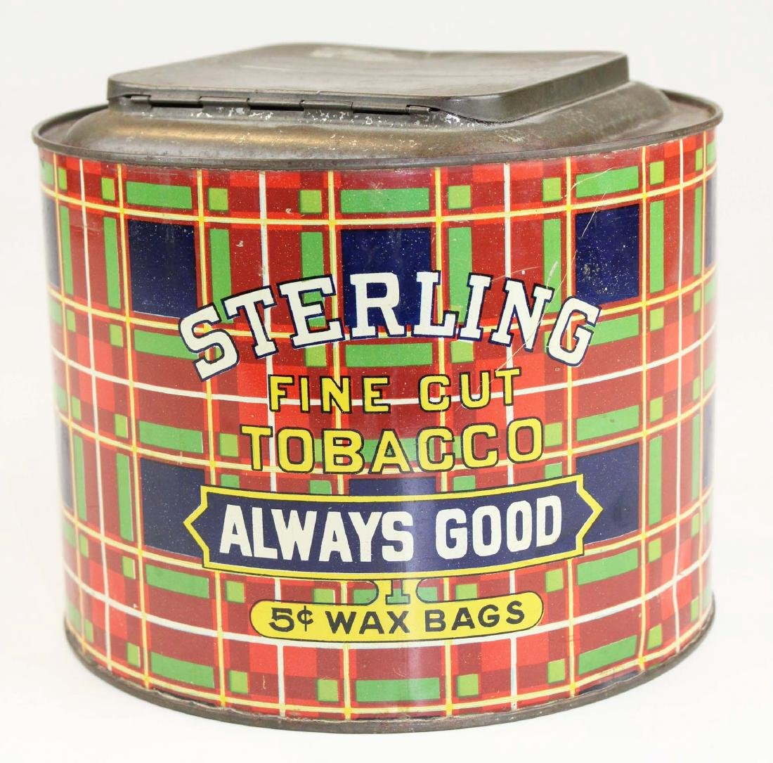 Sterling plaid countertop cannister store tin