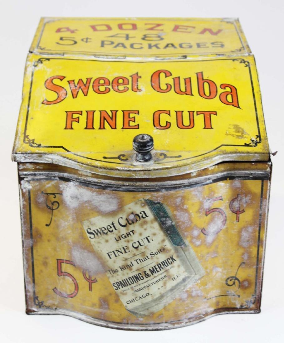 Sweet Cuba countertop display store tin