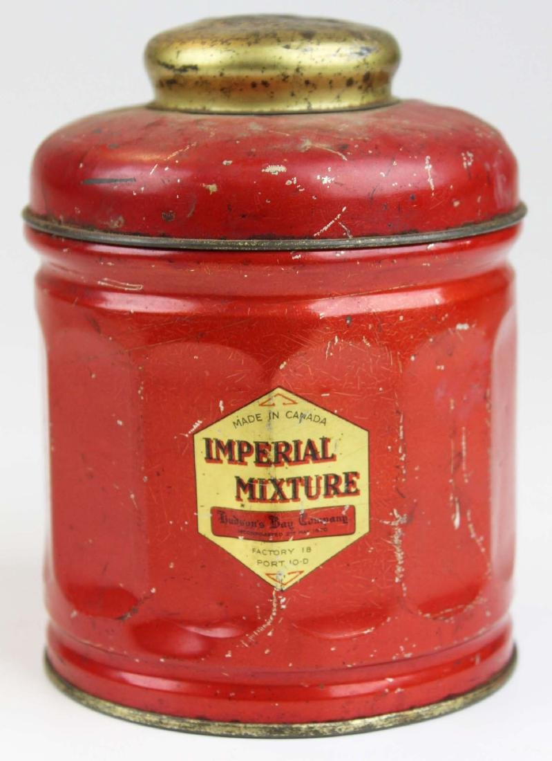 Hudson's Bay Co Imperial Mixture tobacco tin
