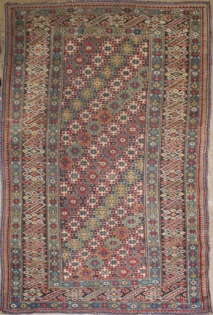 late 19th c Caucasian Genge area rug