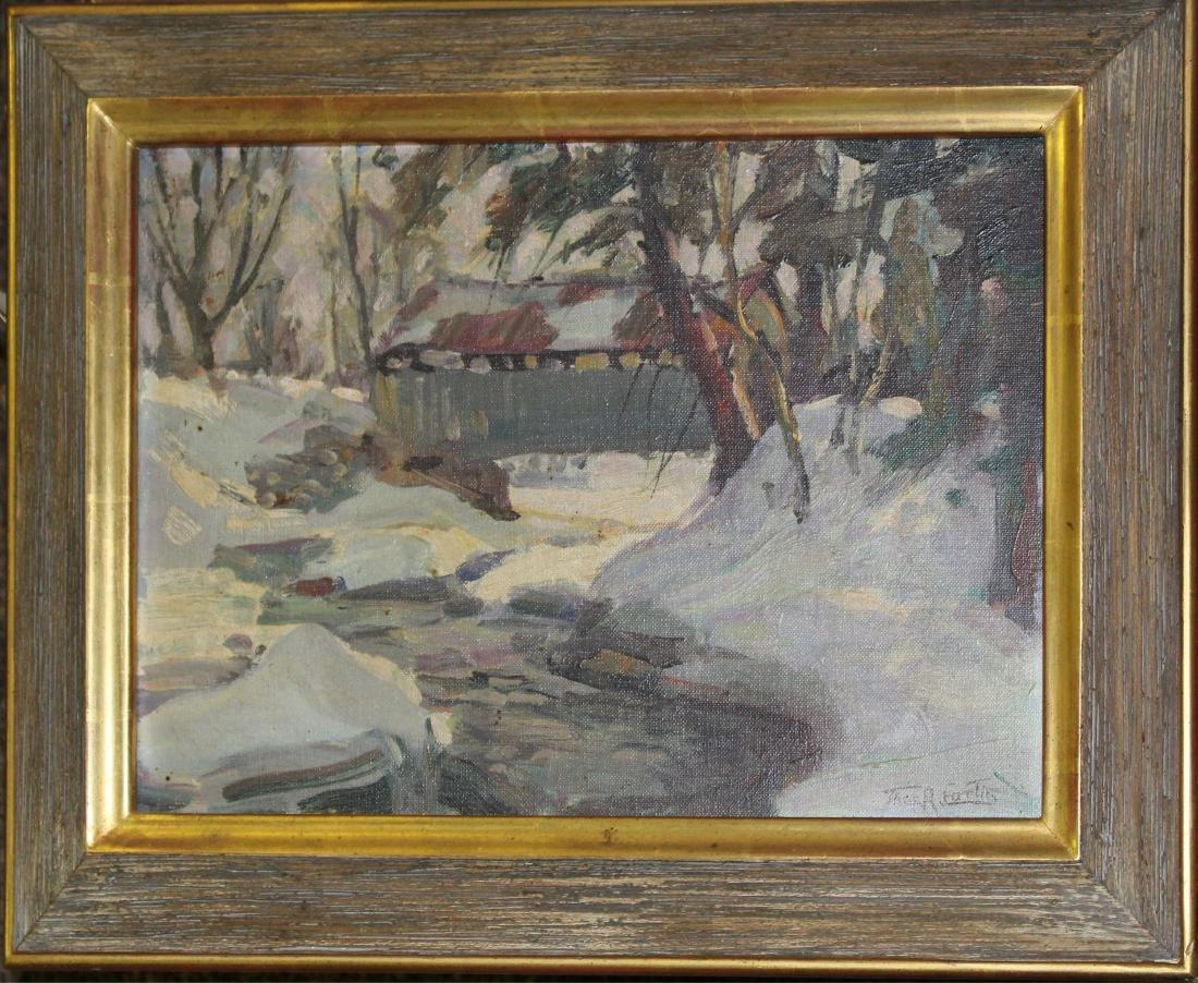 Thomas R Curtin (VT 1899-1977) The Covered Bridge