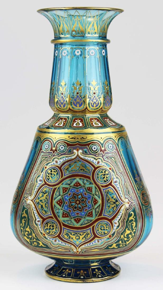 J. & L. Lobmeyr Vienna art glass enameled vase